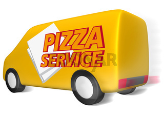 Pizza Service Lieferwagen