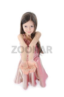 little girl in evening dress