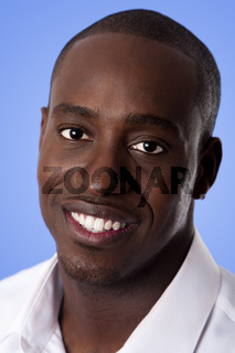 Face of happy smiling African man