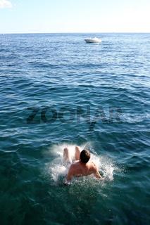 Landung im Wasser