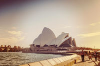 Sydney Opera House with Instagram filter