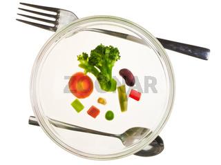 Vegetable diet concept