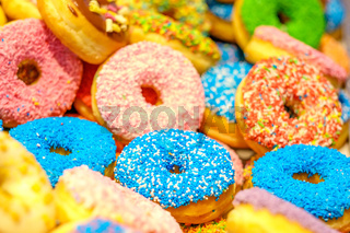 Various decorated doughnuts