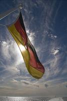 Deutsche Flagge auf Fähre / german flag