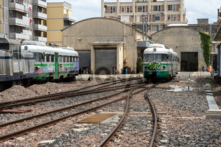 Bahnhof in Macomer, Sardinien
