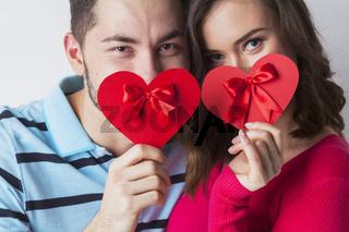 Valentine day couple