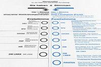 german election - ballot paper card