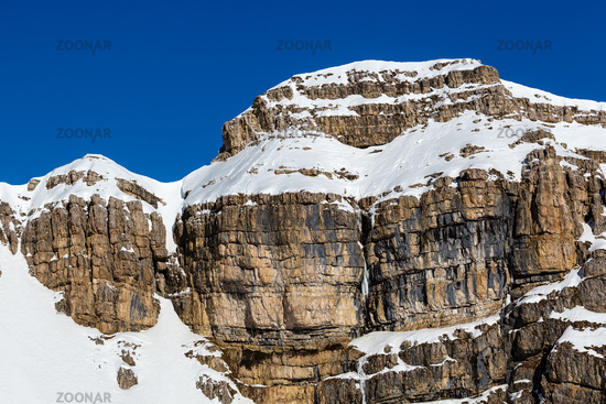 Rocky Mountains on the Ski Resort of Arabba, Dolomites Alps, Italy