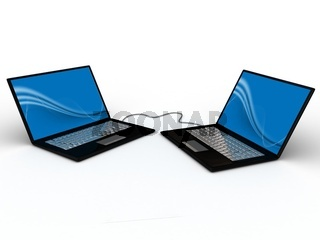 Portable notebook on white background