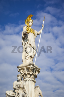 Athena Statue in front of the Parliament in Vienna Austria