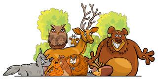 Cartoon forest animals group design