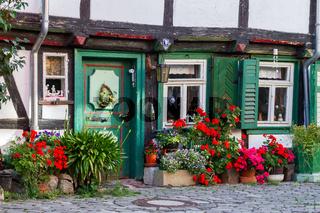 altes Fachwerkhaus in Halberstadt Harz