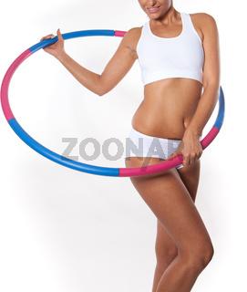 Woman holding hula hoop - Hula Hoop Exercises