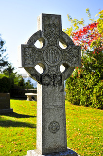 Graveyard with celtic cross