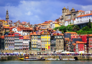 Ribeira, the old town of Porto, Portugal