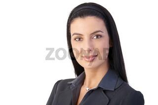 Portrait of cheerful businesswoman