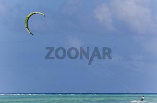 Tobago pigeon point Kite Boarding