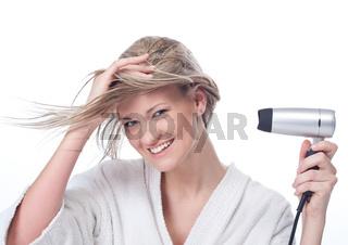 Haare fönen
