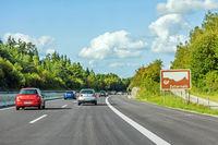 Zollernalb sign, Autobahn, Germany
