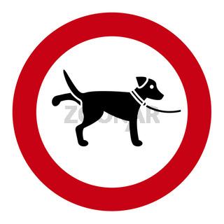 Hundeverbotschild