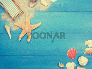 Vacation background in vintage toned colors