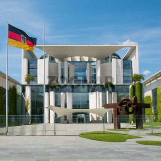 The German Chancellery building in Berlin