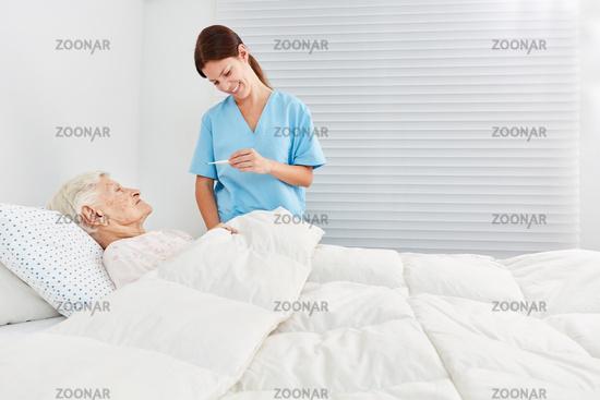 Fiebermessen im po im krankenhaus
