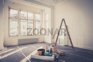 room  during restoration , renovation concept -