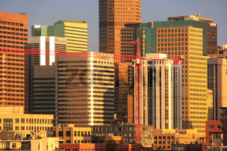 Skyline of Denver in Colorado, USA.