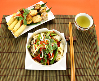 Beef Stirfry And Dimsums