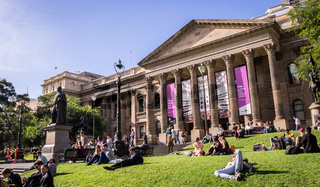 Victoria State Library in Melboure