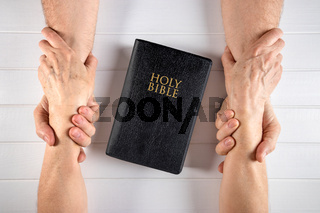 Strong relationship of a family to old age around the Word of God