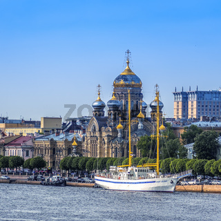 Assumption Church On The River Neva, St. Petersburg, Russia