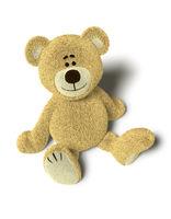Nhi Bear sits on the Floor