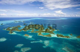 Luftbild von Seventy Islands, Mikronesien, Palau, Aerieal View of Seventy Islands, Micronesia
