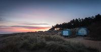 Beach huts at Hunstanton