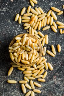 Healthy pine nuts.