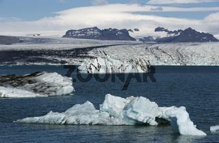 Floating Icebergs in Jokulsarlon Glacier Lagoon Iceland