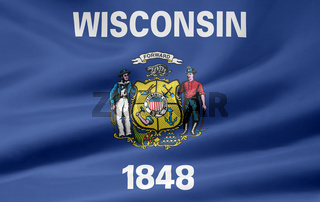 Flagge von Wisconsin - USA