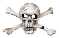 Skull and Cross Bones with Cigarette