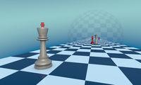 Love and jealousy (chess metaphor)