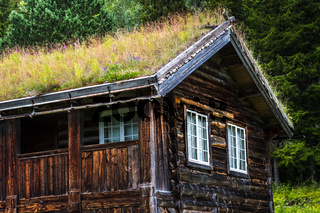 Traditionelles Holzhaus in Norwegen