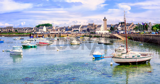 Fisherman's boats in the harbour of Roscoff, Brittany, France