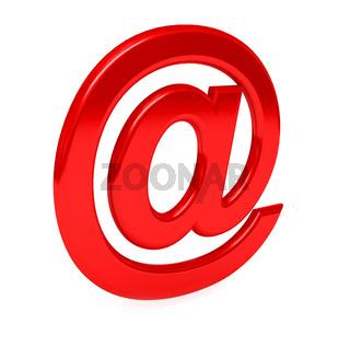 e-mail sign over white