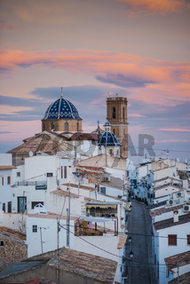 White houses with terracota roof in Costa Blanca