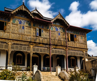 Exterior view to Rimbaud House and Museum, Harar, Jugol, Ethiopia