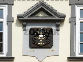 Wappen mit Posthoernern