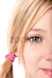 Watchful eye - half face