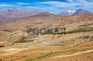 Kibber village in Himalayas, Himachap Pradesh, India