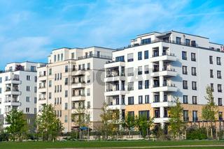 Neubaugebiet mit Mehrfamilienhäuser in Berlin